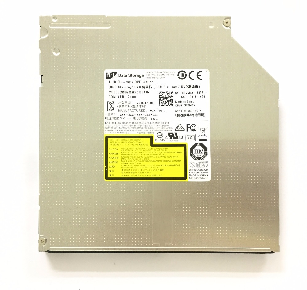 for LG HL BU40N Laptop 4K Ultra HD UHD 6X 3D Blu-ray Writer BD-RE SL DL TL QL 4X BDXL 100GB 128GB Bluray Burner Slim SATA Drive