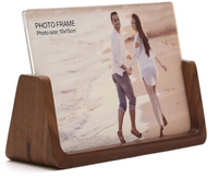 Solid wood stand photo frames walnut/beech wood frame holder