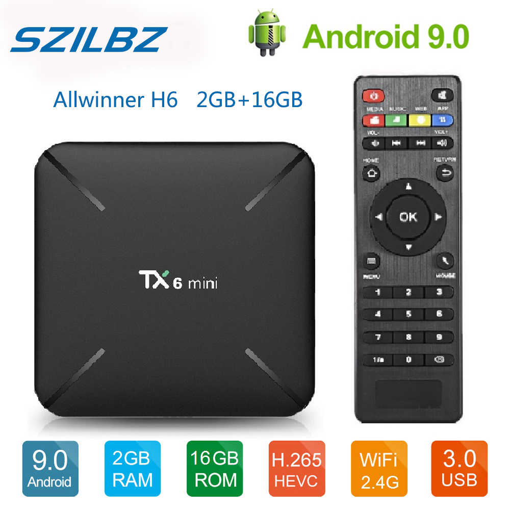 SZILBZ Android 9.0 TX6 Mini Smart TV Box Allwinner H6 2G 16G 2.4G WiFi Hỗ Trợ 4K h.265 TRUYỀN HÌNH Netflix Set-Top Box TX6mini