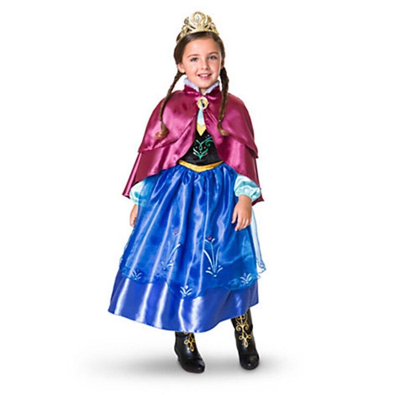 Toddler Baby Girl Party Dresses Princess Anna Elsa Dress Kids Christmas Costume Disfraces Vestido Anna Elsa Congelada + Gift funko pop princess elsa anna action figure model doll kids toys birthday gift for girl 410cm christmas gift
