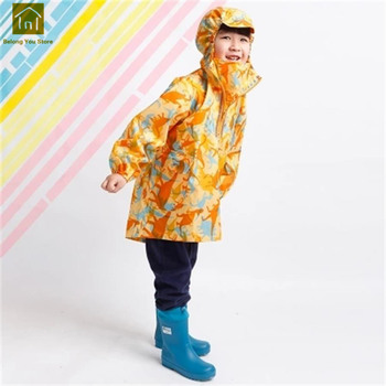 Cartoon Raincoat Poncho Child Fashion Baby Rain Coat Camping Backpack Bicycle Capa De Chuva Infantil Rainwear For Kids QKR281