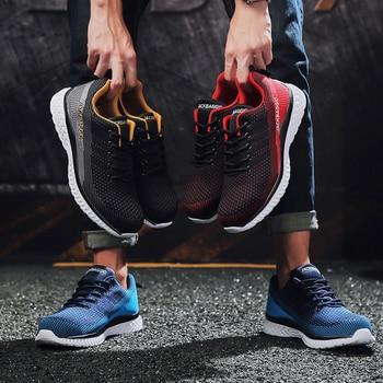 Брендовые ботинки Мужская Рабочая обувь Повседневная защитная обувь легкие сетчатые ботинки со стальным носком промышленные Нескользящие...