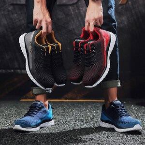 Image 4 - Botas de marca zapatos de trabajo para hombre, zapatos de seguridad informales, zapatos de punta de acero de malla ligera, Industrial, antideslizante y transpirable
