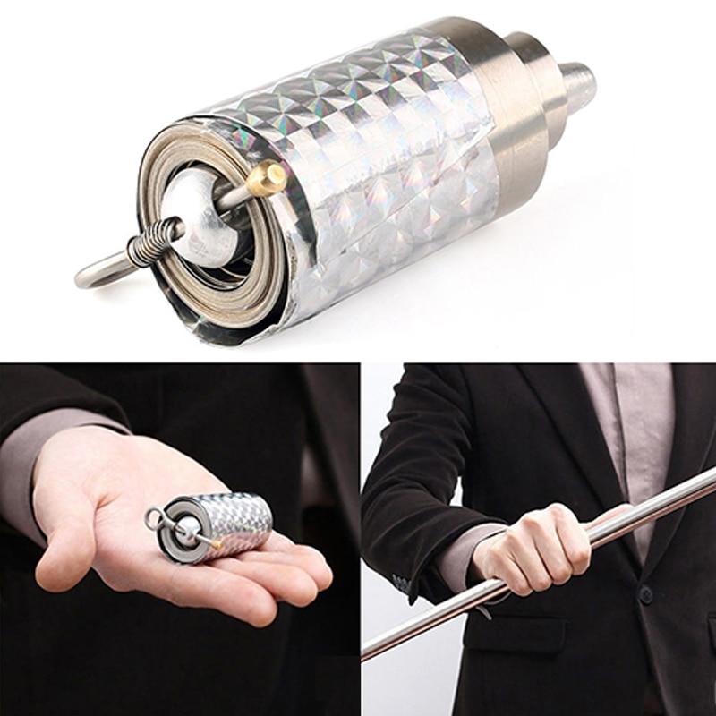 110cm/150cm Portable Telescopic Rod Martial Arts Metal Magic Pocket Outdoor Car Steel Wand Elastic Anti-wolf Stick