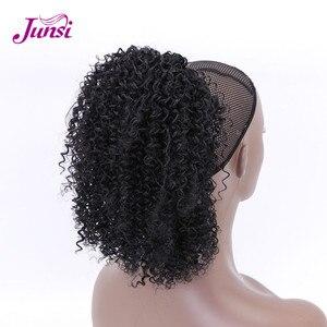 Afro-americano africano-americano cabelo curto encaracolado cordão rabo de cavalo para mulheres natural grampo de cabelo cordão rabo de cavalo