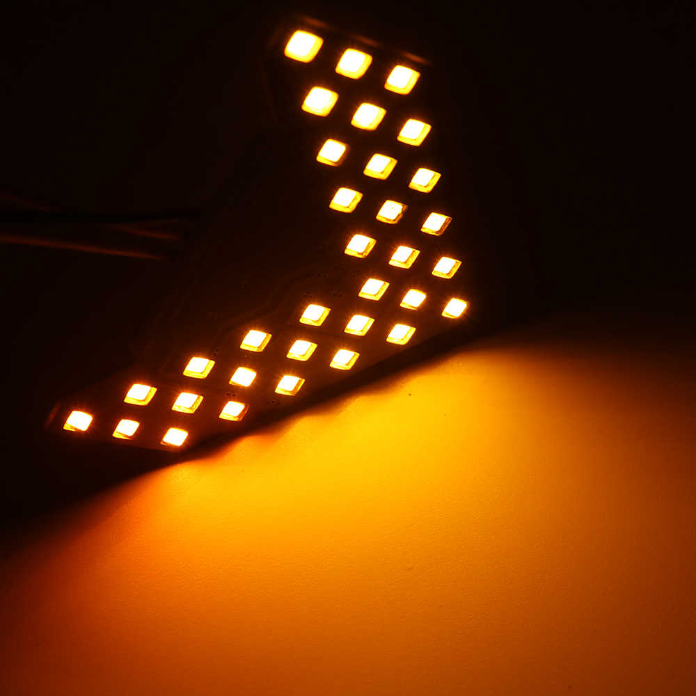 YSY 2pcs 33 SMD Sequential Led Lights Arrows Lamp Indicator Safe led Panels  Car Side Mirror Turn Signal 33 LED