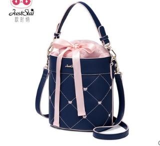Princess sweet lolita bag Autumn and winter fashion handbags Single Shoulder Bag Satchel ribbon bow tie Bucket bag 171986