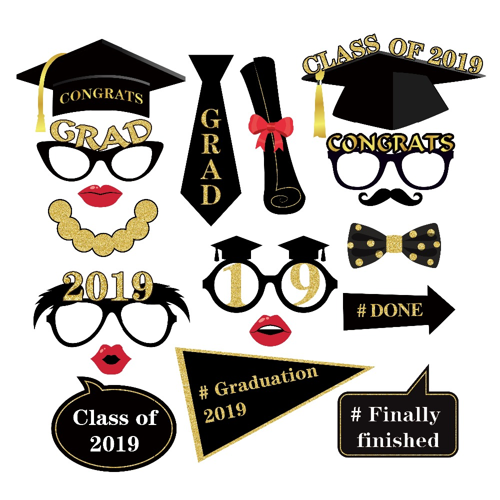 Props Party Supplies Cake Decor 2019 Graduation Cupcake Toppers Food Sticks