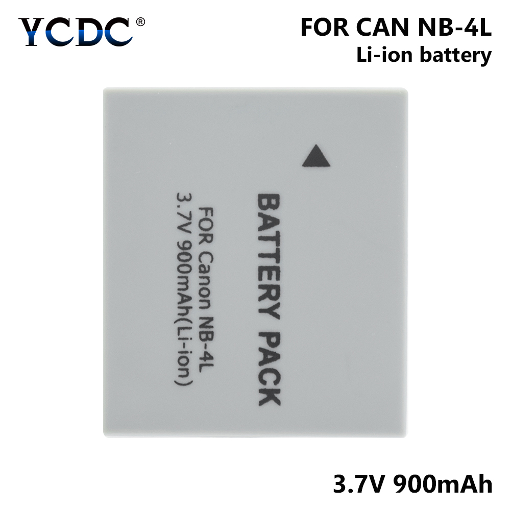 1/2 Pcs 3.7V NB-4L NB4L NB 4L 900mAh Li-ion Battery For Canon IXUS 30/40/50/55/60/65/80 IS/100/ I20/110/115/120/130/117/220 image