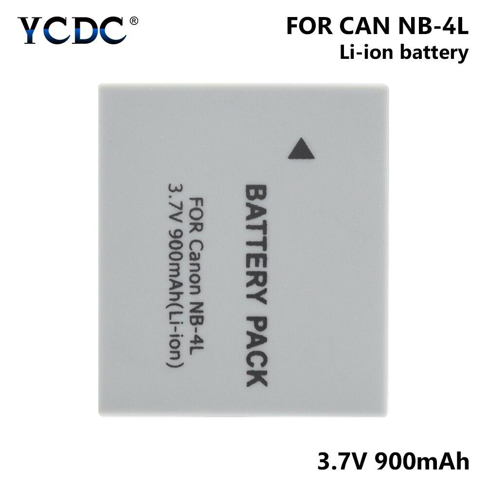 1/2 Pcs 3.7V NB-4L NB4L NB 4L 900mAh Li-ion Battery For Canon IXUS 30/40/50/55/60/65/80 IS/100/ I20/110/115/120/130/117/220