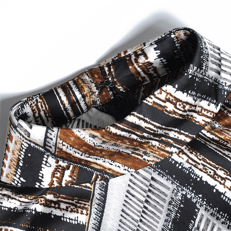 2019 Fleurs D'impression De Marron Printemps Carrière Nouveau Jambe Coloré Dames Style Large Pantalon Mode Mince Piste Européenne Femmes qCEzx8gw