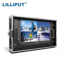 """リリパット BM150 4KS 新 15.6 """"3840 × 2160 4x4 HDMI イン & アウト 3G SDI 放送ディレクターモニターと HDR 、 3D LUT 、色空間"""