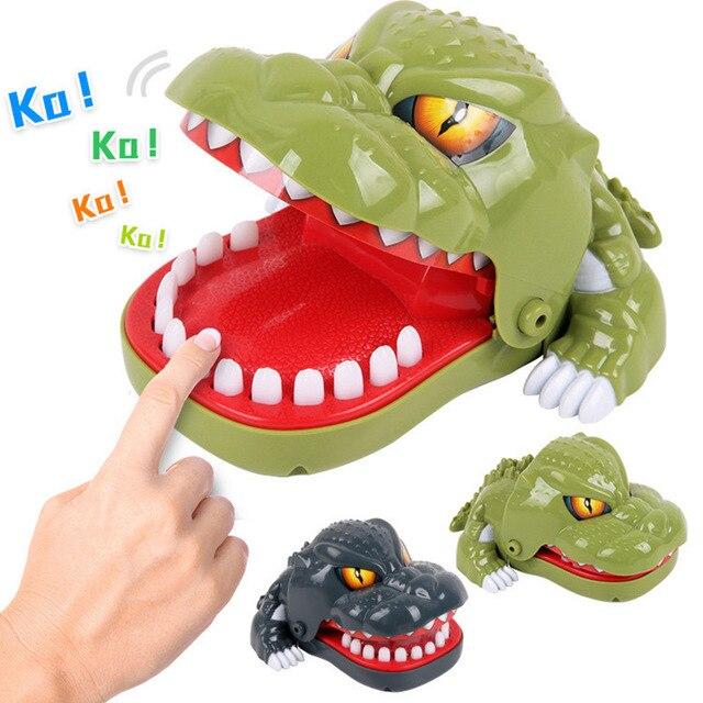 Dinossauro Engraçado Gadgets brincadeiras brincadeiras toy Presente Morder Anti Stress Relief Toy novidade Horror Autismo Legal Estranho antistress