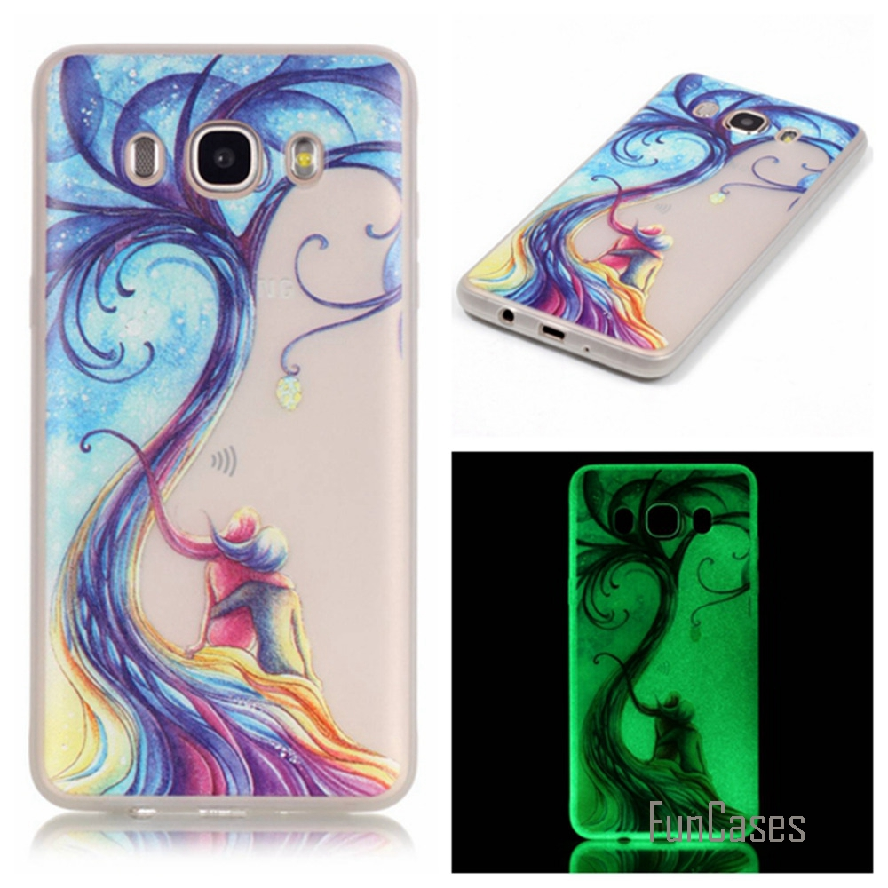 Luminous Night Slim Phone Cases For Samsung Galaxy J7 Matte 2016 J710 J710f J710m J7108 Fluorescence Soft Tpu Silicon Back Cover Skin