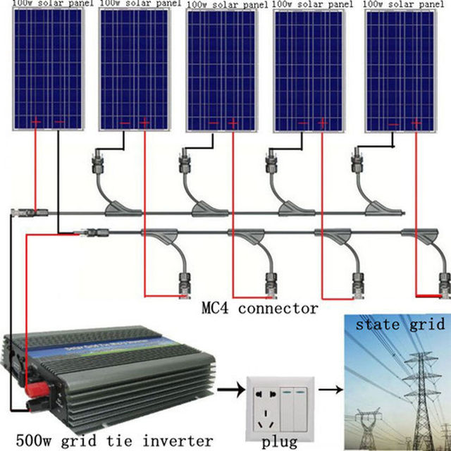 DE stock Large USA style 500W COMPLETE KIT: 5*100W WATT PV poly Solar cell Panel 12V on grid solar system# * no taxis no duty