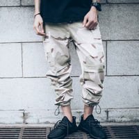 Hip Hop Clothing Overalls Kanye West Fashion Yezzy Joggers Mens Baggy Tactical Camo Cargo Pants Full