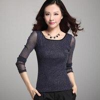 T Shirt Perspective Lace Woman Clothe Blusas De Renda Feminino Camisa Shirt Blouse Women Top Ropa