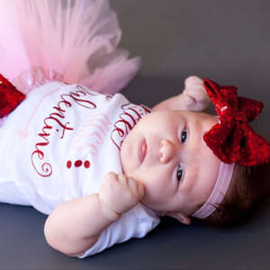 Placeholder Custom Little Miss Valentine Baby Shower 1st 2nd Birthday Bodysuit Onepiece Shirt Tutu Dress Romper Outfit