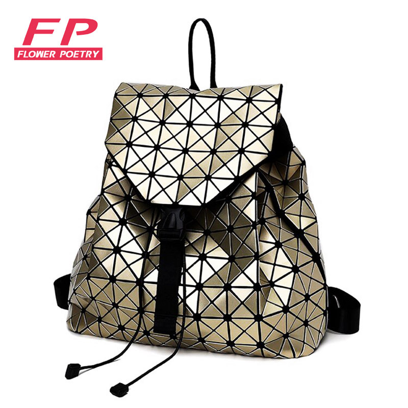 New Laser Geometric Bao Bao Women Backpack Bags Fashion Backpacks For Teenage Girls Folding Sequins Shoulder Bag Daily Black паяльник bao workers in taiwan pd 372 25mm