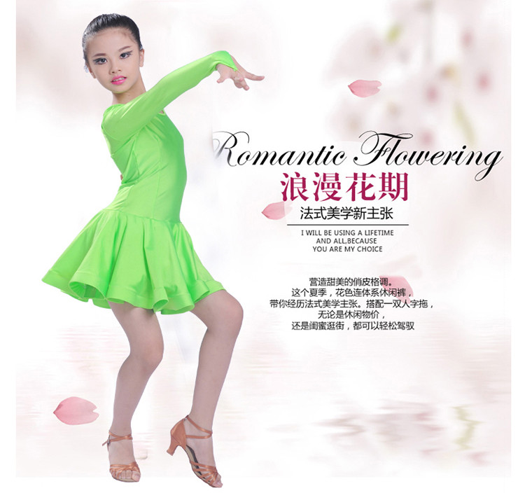 2c82944a6 2016 new style girls latin dance costumes senior cotton long sleeves ...