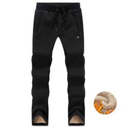 Зимние спортивные штаны мужские с эластичной резинкой на талии брюки Джоггеры мужские большие размеры 6XL 7XL 8XL толстые флисовые брюки