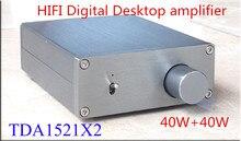 Buy online DT1 HIFI TDA1521 2.0 channel 40W+40W BTL output Desktop digital amplifier