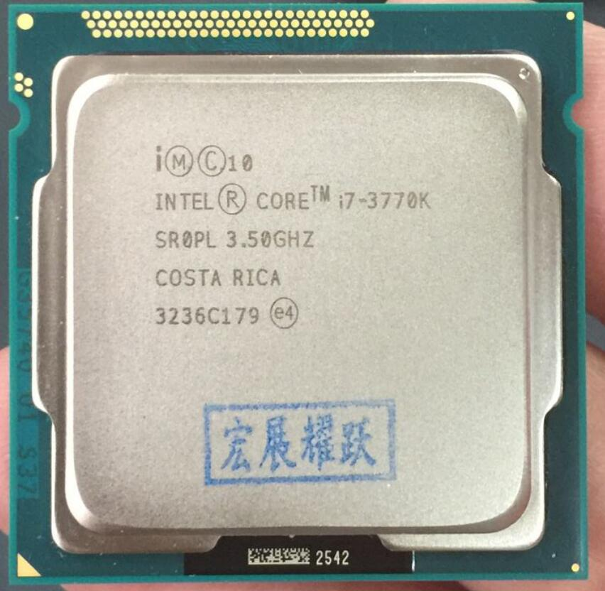 Intel PC Desktop Core i7-3770K Processor cpu LGA 1155 I7 3770K PC Computer Desktop CPU