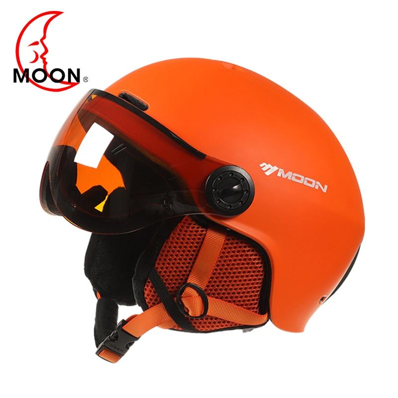 MOON Goggles Skiing Helmet Integrally Molded PC EPS High Quality Ski Helmet Outdoor Sports Ski Snowboard