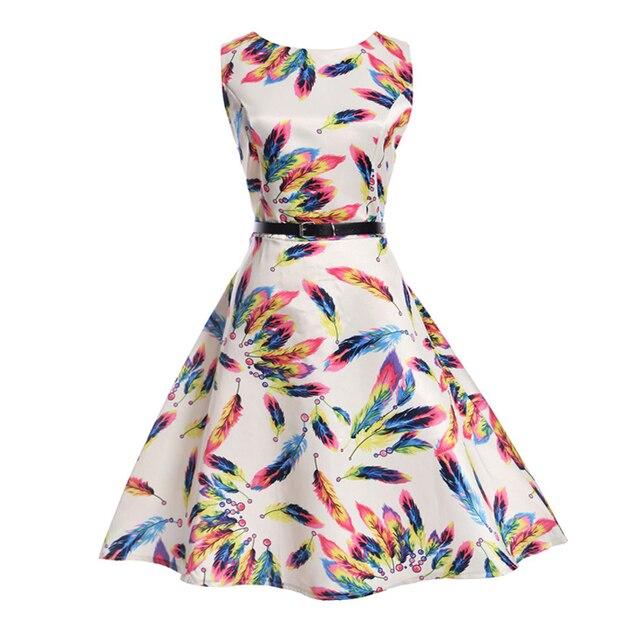 5918383c0888e Fille robe été 2017 adolescents filles imprimé Floral robes pour les filles  de 12 ans sans
