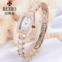 Mujeres Reloj de Cuarzo de Moda de lujo Vestido de Diamantes De Cerámica Reloj de Señora Reloj Casual Reloj Relogio Feminino Con Caja de Regalo