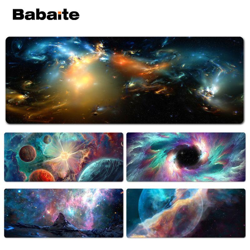 Babaite Haute Qualité L'espace gamer tapis de jeux Lockedge Tapis De Souris Taille pour 300*900*2mm et 400*900*2mm Conception Souris Pad