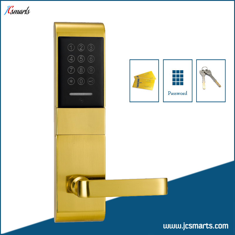 Apartment combination door lock M1 card keyless entry door lock with mechanical keys my apartment