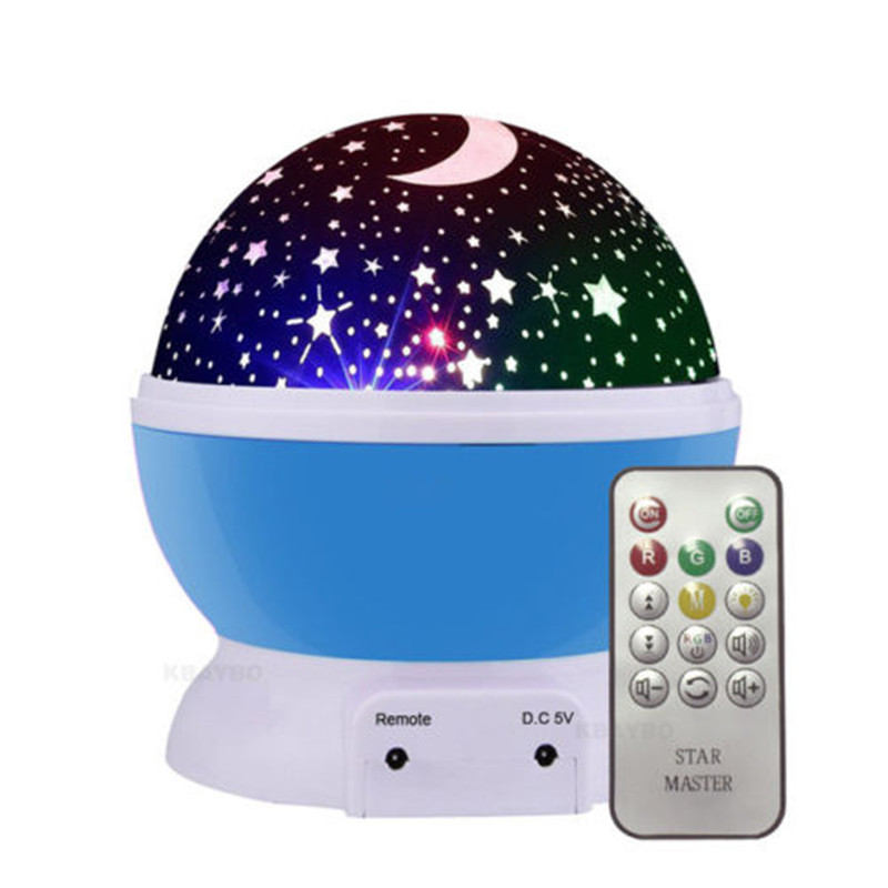 2018 Rotating Night Light Projector Spin Starry Sky Star Master Children Kids Baby Sleep Romantic Led USB Lamp Projection led night light ocean wave projector starry sky aurora star light lamp luminaria baby nightlight gift battery powered led lights