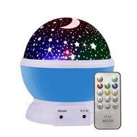 2018 Rotating Night Light Projector Spin Starry Sky Star Master Children Kids Baby Sleep Romantic Led