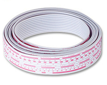 6P/8P/10P/12P LED Display Screen 2.54mm Pitch Red And White Datacable Datawire Transmission Line Flat Ribbon Cable Wire