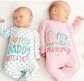 2016 Nova Marca Primavera Mãe Amor de Verão Macacão de Bebê Pijamas Meninos Roupas de Menina Bonito Macaco Macacões Recém-nascidos Roupas Sleepwear
