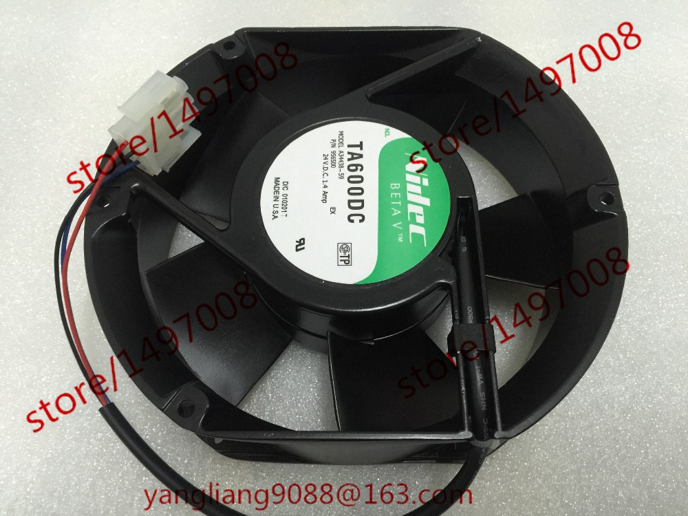 Nidec A34438-59 TA600DC DC 24V 0.14AMP 171X151X51mm Server Round Fan nidec x17l50bs2m3 07 dc 50v 3 12a 150x150x50mm server round fan