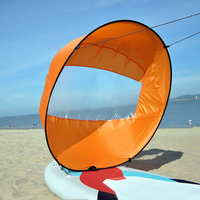 Kayak Boat Wind Paddle Sailing Kit Popup Board Sail Rowing Downwind Boat Windpaddle with Clear Window Kayak Accessories