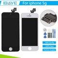 Garantía 100% para el iphone 5 pantalla táctil de pantalla para iphone5 lcd digitalizador asamblea negro/blanco + herramienta + tracking código