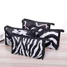 new fashion leopard PU women Cosmetic bag cases casual folding make up travel organizer makeup case beauty