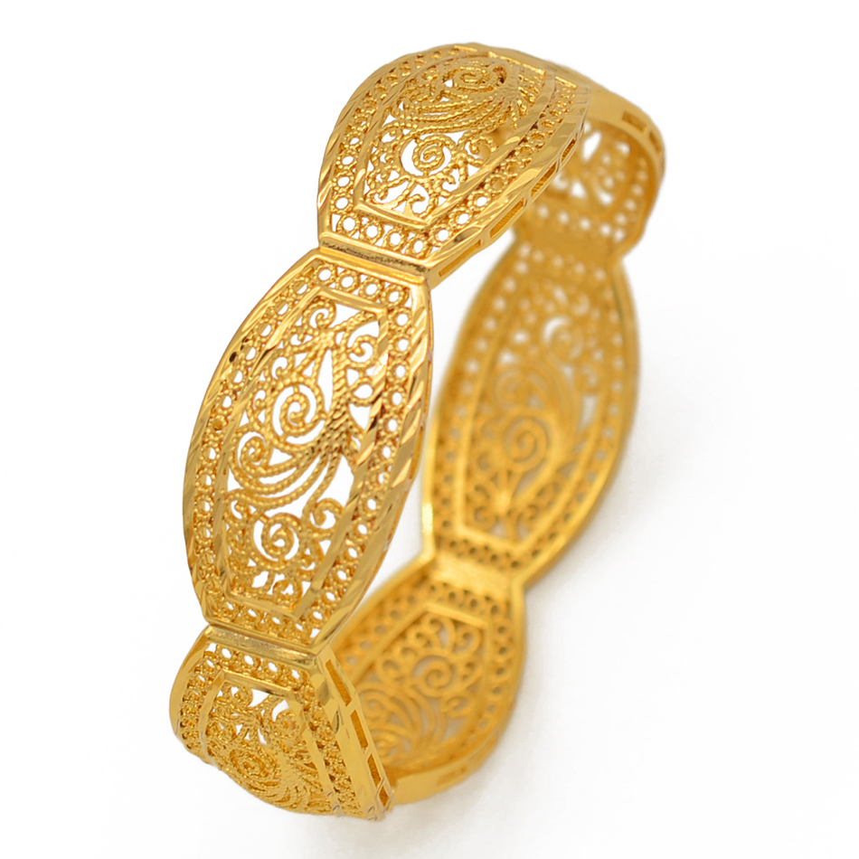 Image 4 - Anniyo 4Pieces/Openable Dubai Bangles Ethiopian Bracelets&Bangles for Women African Wedding Jewelry Arabic Middle East #208406-in Bangles from Jewelry & Accessories