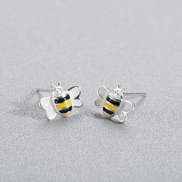 Купить женские серьги гвоздики пчелка todorova в виде медовой пчелы