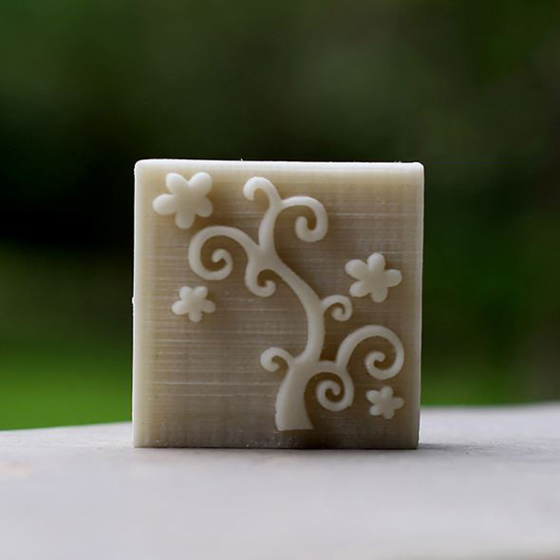 ᗖÁrbol patrón jabón sellos de resina hecha a mano jabón precio al ...
