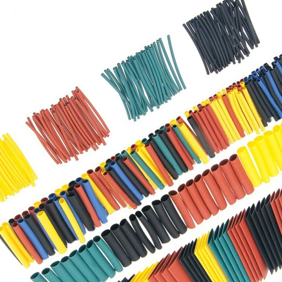 Trkee 580pcs Heat Shrink Tubing Sleeving Wrap Tube Cable Wire Kit 2:1 Ratio Assortment