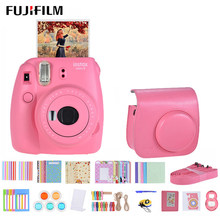 Fujifilm Instax Mini 9 Instant Camera for polaroid for Film Cam with Selfie Mirror Andoer Instant Camera Accessories Bundle Kit(China)