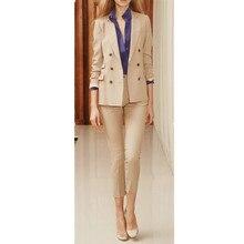 High Quality New Autumn Business Ladies Pants Suits Formal Office Women Work Wear Trouser Suit Plus Size