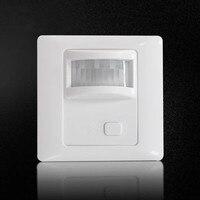 AC 110V 240V PIR Sensor Infrared Motion Sensor Light Dimmer PIR Switch Recessed Wall Module With
