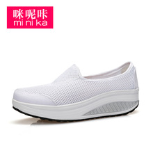 Summer Women Walking Shoes Platform Loss Weight Women'S Breathable Shoes Swing Female Platform Wedge Shoes Mesh Shoes AA40241