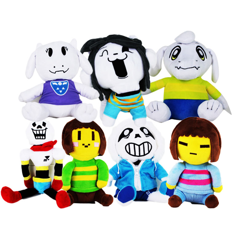 7 styles Undertale Sans Papyrus Asriel Toriel Temmie Frisk Chara Undyne Stuffed Doll Plush Figure Toy
