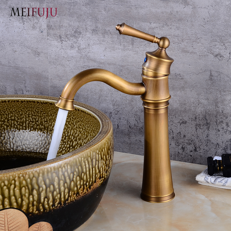 Antique Bronze 360 Degree Swivel Brass Faucet Bathroom Basin Sink Mixer Bath taps Faucet Single Handle faucet Home decoration free shipping antique bronze finish 360 degree swivel brass faucet bathroom basin sink mixer bath
